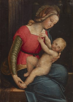 WALTERS: Gerolamo Giovenone (Italian, 1486 or 1487-1555): Madonna and Child 1490