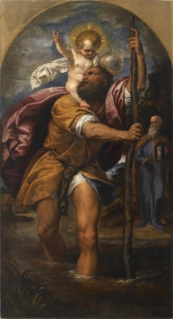 WALTERS: Venetian: St. Christopher and the Christ Child 1570