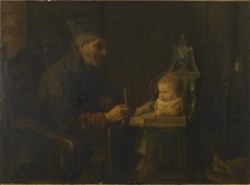 WALTERS: Jozef Israëls (Dutch, 1824-1911): Old Man and Baby 1880