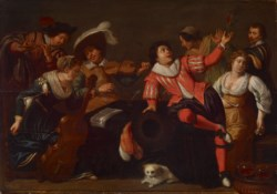 WALTERS: Jan van Bijlert (Dutch, ca. 1597-1671): Merry Company 1605