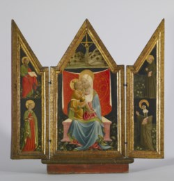 WALTERS: Andrea Delitio (Italian, active 1440-1480): Madonna and Child Enthroned with Saints 1440