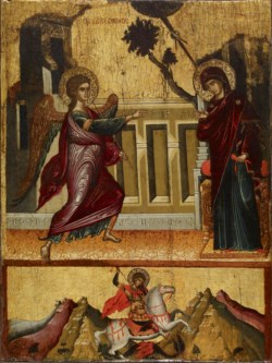 WALTERS: Greek: Annunciation, Saint George Killing the Dragon 1475