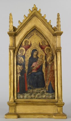 WALTERS: Pietro Lorenzetti (Italian, active by 1306-ca. 1348): Virgin and Child with Saints and Angels 1328