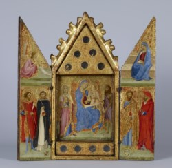 WALTERS: Lippo Vanni (Italian, active 1344-1376): Reliquary with Madonna and Child with Saints 1350