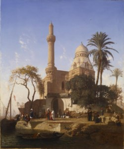 WALTERS: Prosper Marilhat (French, 1811-1847): Landscape with Mosque 1811