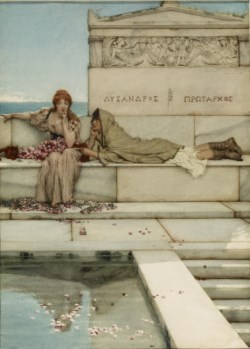 WALTERS: Sir Lawrence Alma-Tadema, R.A., O.M. (Anglo-Dutch, 1836-1912): Xanthe and Phaon 1883