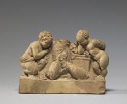 WALTERS: Greek: Three People Watching a Cock Fight -342