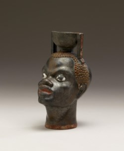 WALTERS: Greek: Aryballos in the Form of Head of an African -492