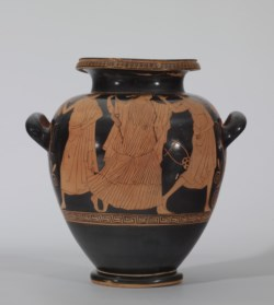 WALTERS: Painter of the Florence Stamnoi (Greek, active ca. 480-ca. 450 BC): Red-figure Stamnos with Eos and Two Youths -470