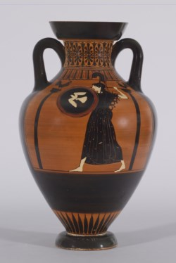 WALTERS: Greek: Black-figure Pseudo-Panathenaic Amphora -512