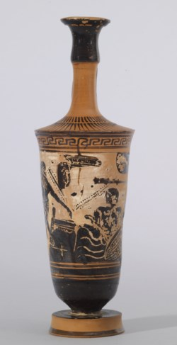 WALTERS: Beldam Painter (Greek, active ca. 500-ca. 450 BC) (?): Herakles and Pholos -512