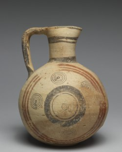 WALTERS: Cypriote: Bichrome Ware Jug with Geometric Design and Concentric Circles -699