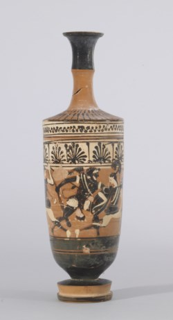 WALTERS: Haimon Painter (Greek, active ca. 525-475 BC) (?): Three Amazons and Herakles -537