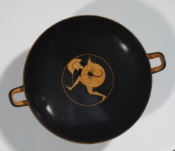 WALTERS: Pamphaios (Greek, active 510 BC-480 BC): Red-Figure Kylix with Running Warriors -507