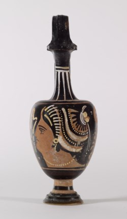 WALTERS: Greek: Red-Figure Oinochoe with a Female Head -335