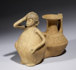 WALTERS: Veracruz: Double-Chambered Vessel with Monkey 588