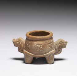WALTERS: Tairona: Small Footed Bowl with Tiger Head Handles 1000