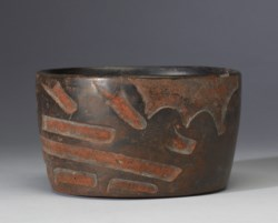 WALTERS: Olmec: Carved Bowl with Jaguar Dragon Motif -1200