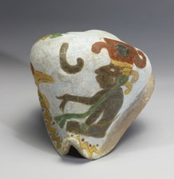 WALTERS: Mixtec: Polychrome Effigy Shell 1200