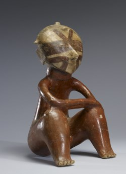 WALTERS: Nayarit: Seated Male Figure with Arms Resting on Upraised Knees -300