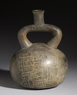 WALTERS: Chavín: Stirrup Vessel with Incised Designs -900