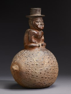 WALTERS: Inca: Vessel of Spirit Man on Gourd 1450
