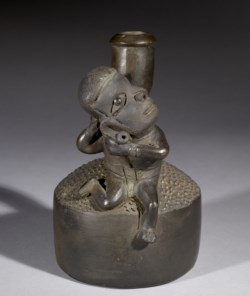 WALTERS: Chavín: Stirrup Vessel with Figure -900