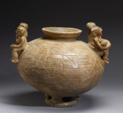 WALTERS: Sinú: Olla with Annular Base and Modeled Figures 500