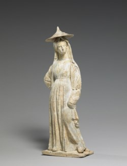WALTERS: Greek: Standing Woman with Hat -342