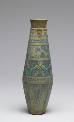 WALTERS: Greek: Flask with Figures and Lotus -300