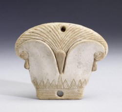 WALTERS: Egyptian: Lid of Cosmetic Box in the Form of a Papyrus Capital -330