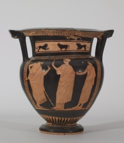 WALTERS: Attributed to the Walters Painter (Greek, active ca. 625-ca. 600 BC): Red-Figure Column Krater -530