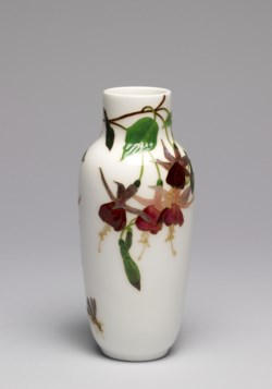 WALTERS: Sèvres Porcelain Manufactory (French, active 1756-present): Fuchsia Vase 1895