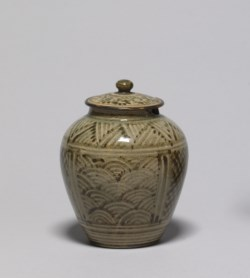 WALTERS: Ryumonji Workshop (Japanese, active mid 19th century): Covered Jar 1825