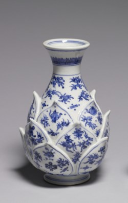 WALTERS: Nin'ami Dohachi (Japanese, 1783-1855): Vase with Lotus Blossom Base 1825