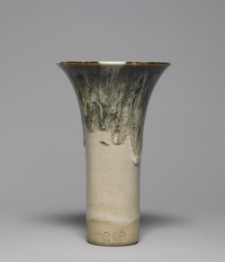 WALTERS: Eiraku Wazen (Japanese, 1821-1896): Flared Vase with Dripping Glaze 1852