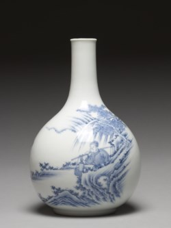 WALTERS: Japanese: Bottle wih a Chinese Gentleman on Horseback 1800