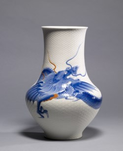 WALTERS: Kato Tomotaro (Japanese, 1851-1916): Vase with dragon 1903