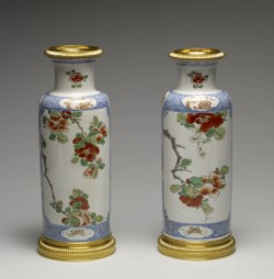 WALTERS: Chinese: Pair of Vases with a Blossoming Branch 1700