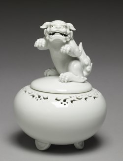 "WALTERS: Japanese: Incense Burner (""Koro"") with Rearing Lion 1800"