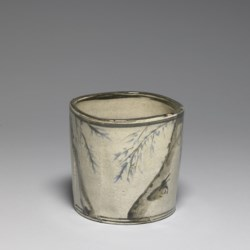 WALTERS: Japanese: Incense or Charcoal Container with Signatures of Ogata Korin and Ogata Kenzan 1800