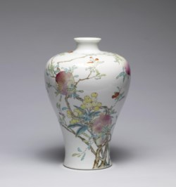 WALTERS: Chinese: Vase with Pomegranates, Peaches, and Longans 1723