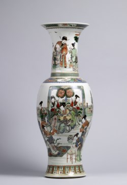 WALTERS: Chinese: Vase with Court Scene and Three Star Gods 1661