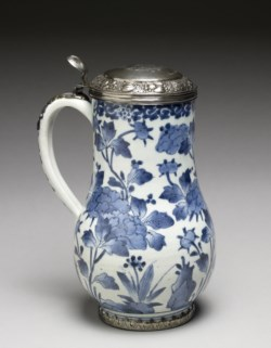 WALTERS: Japanese: Tankard with Dutch Silver Lid of 1690 1670