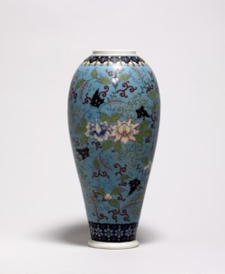 WALTERS: Takeuchi Chubei (Japanese): Vase Decorated with Vines and Tendrils 1868