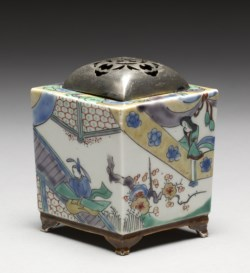 "WALTERS: Japanese: Incense Burner (""Koro"") with Domestic Scenes 1800"