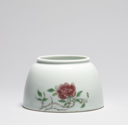 WALTERS: Chinese: Writer's Water Pot with Rose Spray 1710