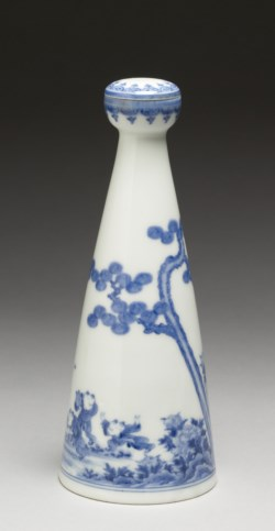 "WALTERS: Japanese: Sake Bottle (""Tokkuri"") with Boys Chasing Butterflies 1830"