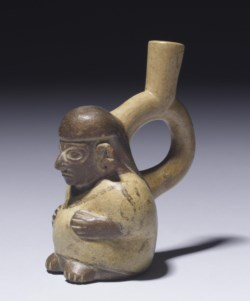 WALTERS: Moche: Pregnant Woman Effigy Bottle 100