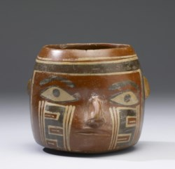 WALTERS: Huari: Trophy-Head Effigy Vessel 500
